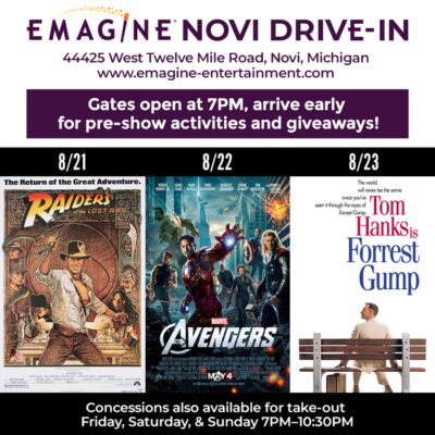 Emagine Drive-In features this week, 8/21 – 8/23