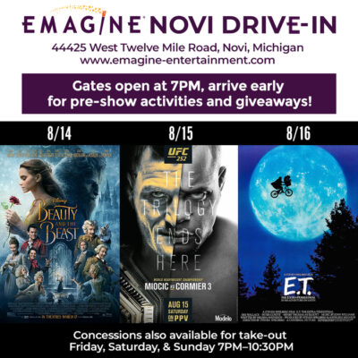 Emagine Drive-In features this week, 8/14 – 8/16