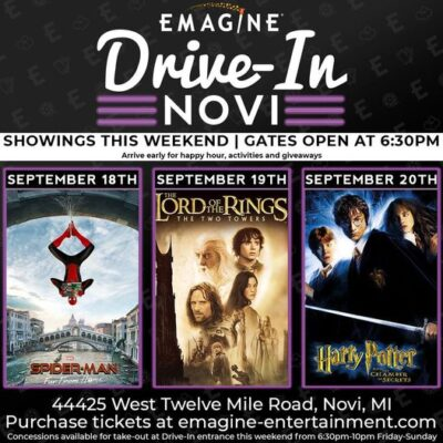 Emagine Drive In Movies 9/18 – 9/20