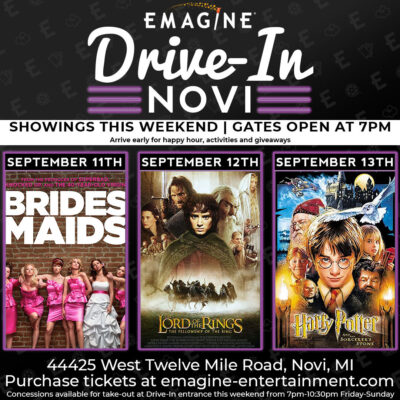 Emagine Drive In Movies 9/11 – 9/13