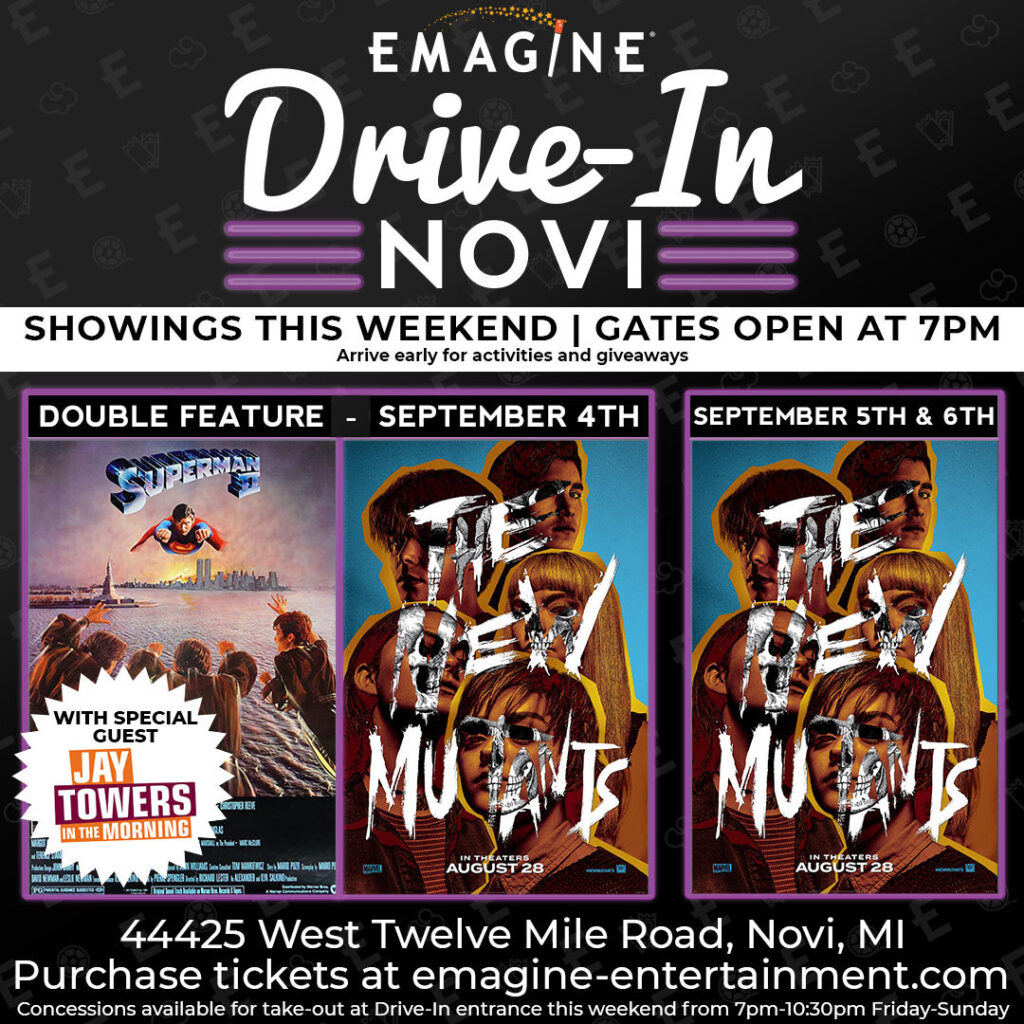 Labor Day Movies at Emagine-Drive In