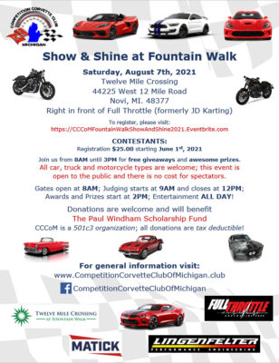 Show and Shine Car Show 8/7/21